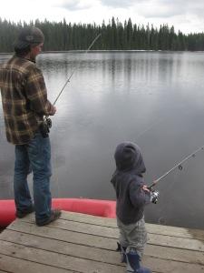 Jonas fishin with Dad 2011